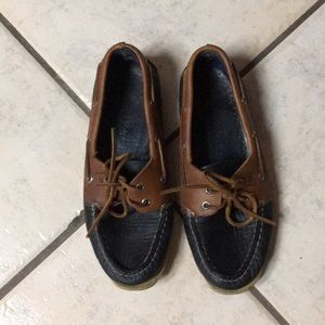 Sperry Topsiders navy and tan